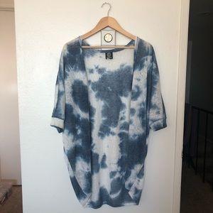 Bobeau Tie-Dye Short Sleeve Shrug Cardigan